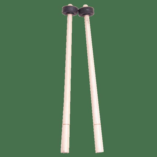 Baquetones de madera con punta de goma.