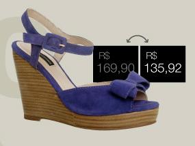 Sandália de $169,90 por $135,90