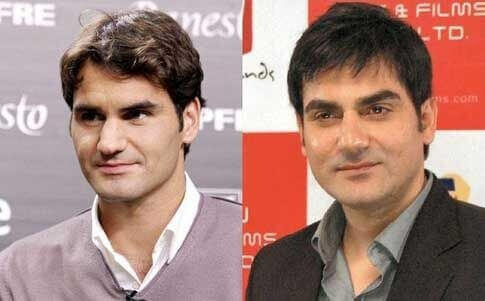 Roger federer and Arbazz khan