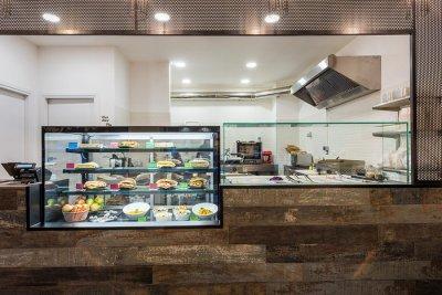 bancone e cucina laboratorio di sfondo