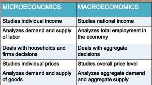 Concept of Micro and Macro Economics