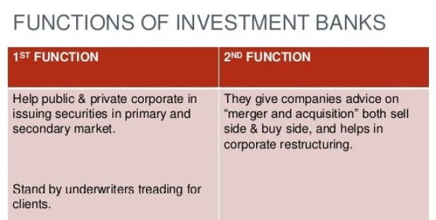 Functions of Investment Banker