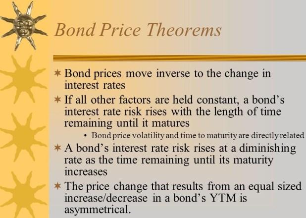 Bond Pricing Theorems