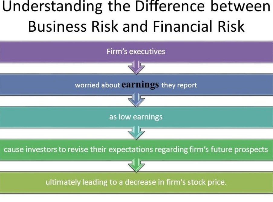 Distinguish between Business risk and Financial risk