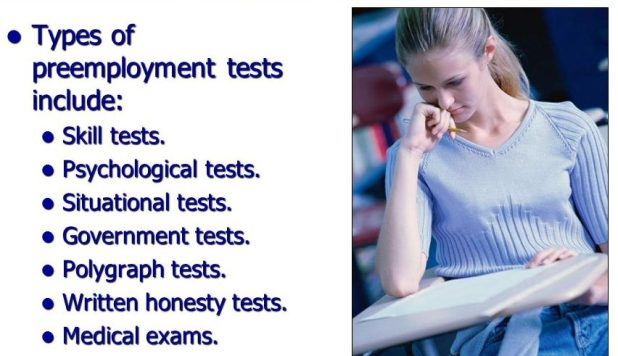 What Are Some Types of Pre-Employment Tests