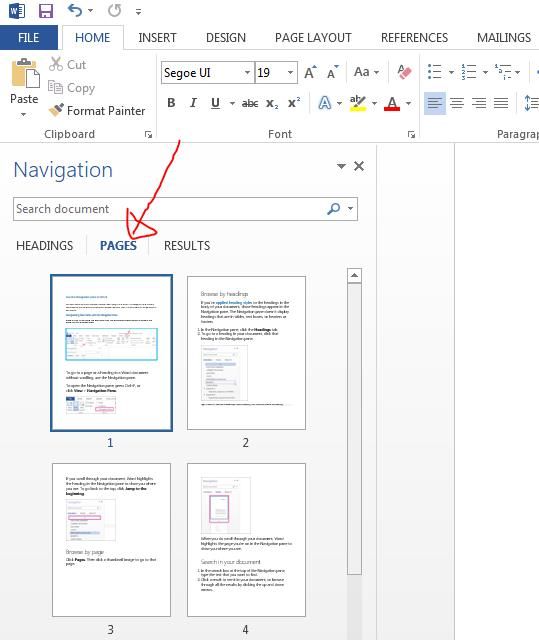 How to Use Navigation Pane in MS Word