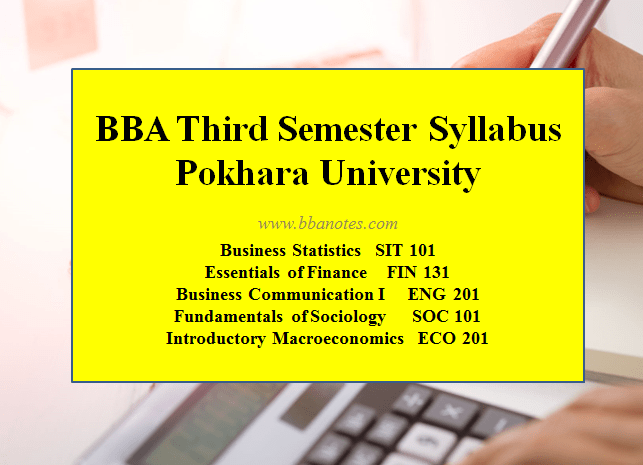 BBA Third Semester