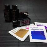 หลากหมึกสีสดที่ซื้อได้ในไทย! Diamine Hope Pink, Golden Brown, Majestic Purple, Sargasso Sea