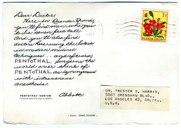 Pentothal skickar vykort - Skicka mer pengar!