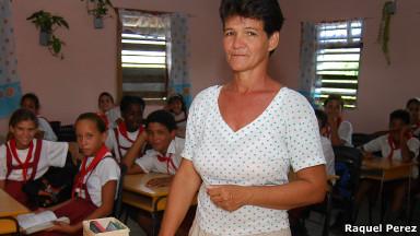 Moraima Palacios, maestra de una escuela de la provincia de Pinar del Río.