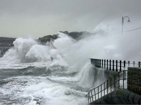 Storms hits Penzance