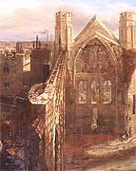 Image of the ruins following the fire of 1834