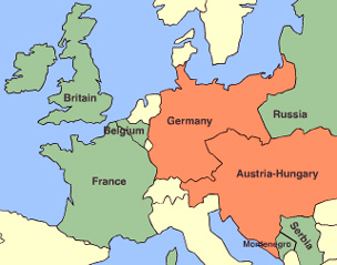 Western Front of World War I, from BBC animation