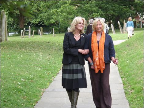 Annie Watsham with Joanna Lumley(L)