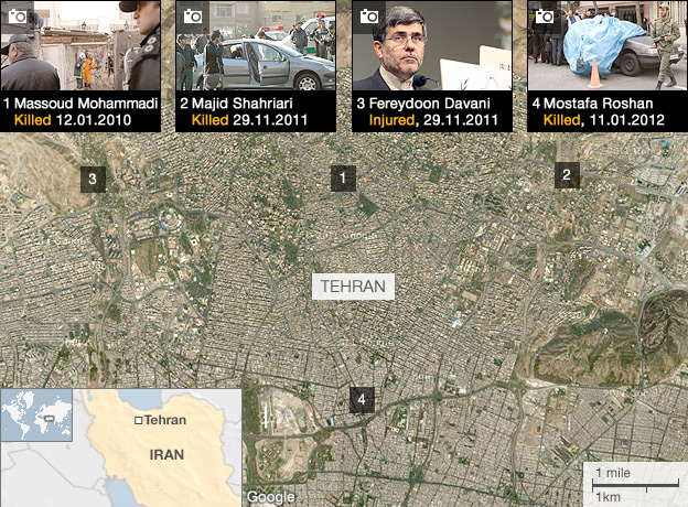 Interactive map of Tehran