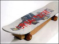 The Skateboard coffin