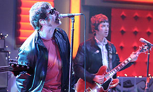 Oasis during a Friday Night With Jonathan Ross appearance