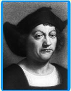 Painting of Christopher Columbus.