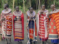 Masai women in the Amboseli National Park, Kenya