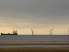 A wind farm off Crosby beach
