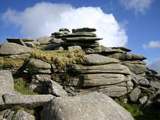 A granite outcrop on Bodmin Moor