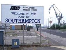 Sign at Southampton Docks