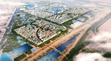 Ariel view of proposed Masdar City masterplans