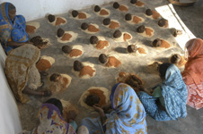 Cow dung soap production, India