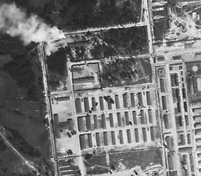 Image result for air photos bbc Auschwitz