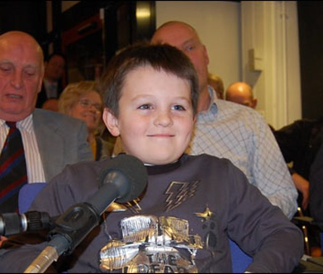 One Of The Younger Members Of The Audience And A Dedicated Middlesbrough Fc Fan Puts His Question To The Panel