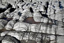 Marble bedrock on the coast