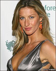 Modelo brasileira Gisele Bundchen