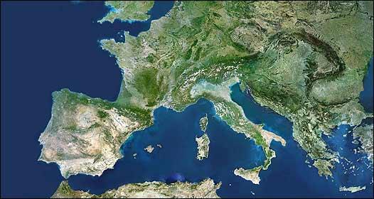 Imagen satelital de Europa