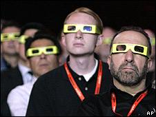 Espectadores con gafas de 3D