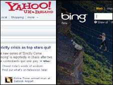 Buscadores de Yahoo y Bing