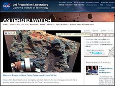 Página de la NASA Asteroid Watch