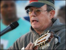 Silvio Rodríguez, cantautor cubano. Foto: Raquel Perez.