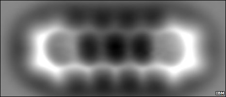 Molécula de pentaceno (IBM Zurich)