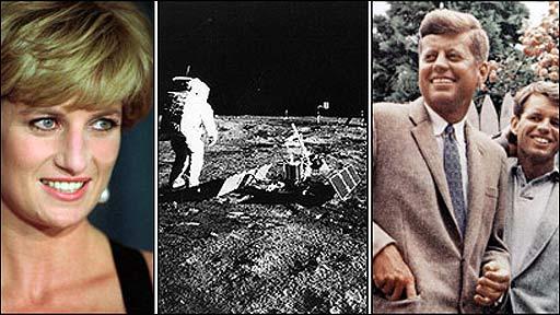 Princesa Diana, aterrizaje en la luna, los Kennedys