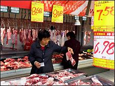 Penjual daging babi (gambar arsip)