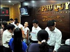 Một cửa hàng vàng ở Hà Nội