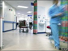 Médicos en un hospital