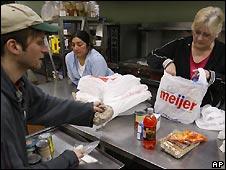 Centro de donación de comida en EE.UU: