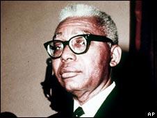 El dictador haitiano Francois Duvalier
