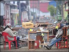 Damnificados en Chile