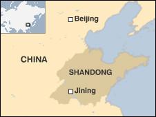 peta lokasi Jining, Cina