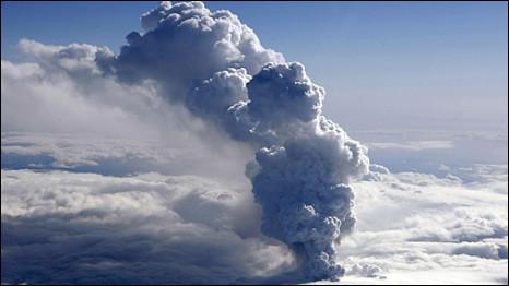 Jangkauan abu gunung berapi Islandia