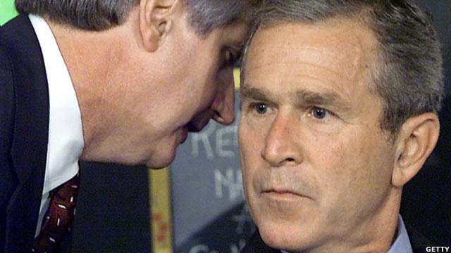 Andrew Card và George W Bush