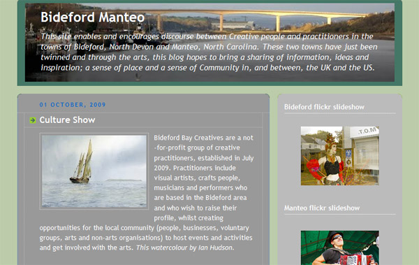 Remember Our Bideford/Manteo Blog!