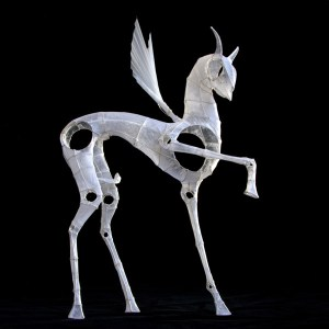 Pegasus,   paper sculpture by Polly Verity